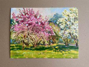 Цветение в Ботаническом саду. Елена Шведова. Ярмарка Мастеров - ручная работа, handmade.