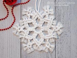 Урок «Снежинка» в технике макраме. Ярмарка Мастеров - ручная работа, handmade.