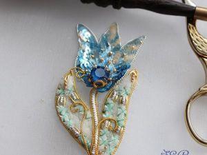 Вышиваем объемный цветок «Подснежник». Ярмарка Мастеров - ручная работа, handmade.