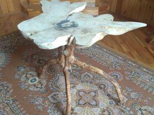 Изготавливаем  оригинальный стол из елового спила. Часть 2. Работа с подстольем, первое склеивание. Ярмарка Мастеров - ручная работа, handmade.