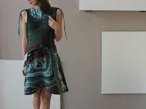Валяное платье за коллекцию!. Ярмарка Мастеров - ручная работа, handmade.