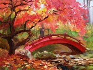Видео мастер-класс по созданию картины «Японский сад». Ярмарка Мастеров - ручная работа, handmade.
