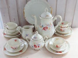 Чайный сервиз довоенной эпохи  «Сакура» , Бавария. Ярмарка Мастеров - ручная работа, handmade.