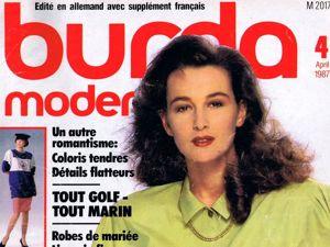 Парад моделей Burda Moden № 4/1987. Немецкое издание. Ярмарка Мастеров - ручная работа, handmade.