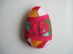 Делаем пасхальное яйцо из фетра на магните. Ярмарка Мастеров - ручная работа, handmade.