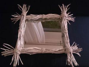 Оформляем рамку для зеркала в рустикальном стиле: работаем с виноградной лозой. Ярмарка Мастеров - ручная работа, handmade.