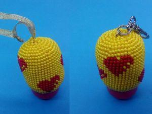 Вяжем бисером брелок и новогоднюю игрушку «Сердца»: видео мастер-класс. Ярмарка Мастеров - ручная работа, handmade.