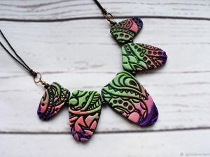 До 20 марта — Весенняя скидка -30% на колье Цветение. Ярмарка Мастеров - ручная работа, handmade.