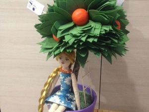 Создаем топиарий с куколкой «Апельсиновое дерево». Ярмарка Мастеров - ручная работа, handmade.