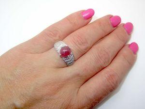 Кольцо с рубином серебряное. Ярмарка Мастеров - ручная работа, handmade.