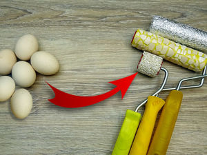 Делаем декоративные валики с яичной скорлупой и фольгой: видео мастер-класс. Ярмарка Мастеров - ручная работа, handmade.
