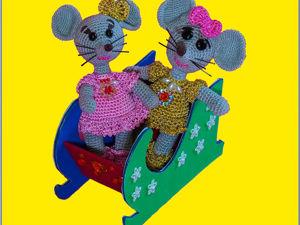 Вяжем мышку крючком. Часть 1. Ярмарка Мастеров - ручная работа, handmade.