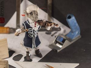 Создаем Скрипача в старинном стиле. Часть 1. Скрипка. Ярмарка Мастеров - ручная работа, handmade.