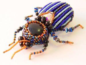 Плетём бисерных жучков. Ярмарка Мастеров - ручная работа, handmade.