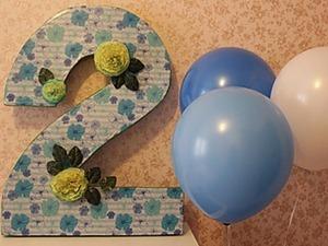 Цифра «2» для Дня рождения. Ярмарка Мастеров - ручная работа, handmade.