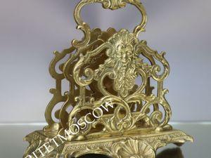 Редкость Салфетница бронза латунь Depose Франция 21. Ярмарка Мастеров - ручная работа, handmade.