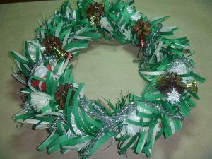Создаем рождественский венок из бумаги. Ярмарка Мастеров - ручная работа, handmade.
