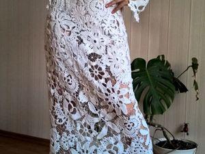 Платье вязаное крючком.Ирландское кружево. Ярмарка Мастеров - ручная работа, handmade.