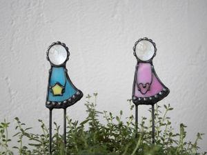 Девочки. Витражный декор в цветочный горшок. (Видео). Ярмарка Мастеров - ручная работа, handmade.