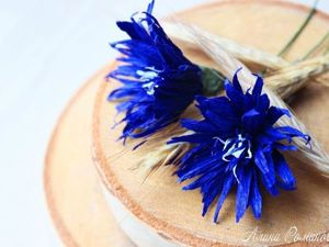 Video Tutorial: Corrugated Paper Cornflowers. Livemaster - handmade