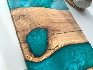 Изготовление подноса с эпоксидной смолой. Ярмарка Мастеров - ручная работа, handmade.
