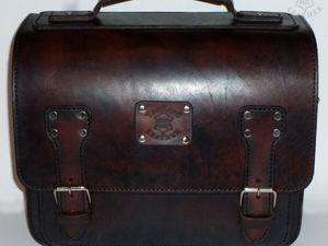 Как сделать портфель из кожи своими руками. Ярмарка Мастеров - ручная работа, handmade.