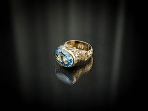 Видео кольца с голубым топазом   «X-Blue Ring». Ярмарка Мастеров - ручная работа, handmade.