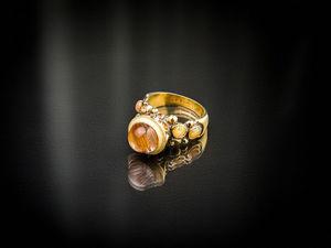 Видео кольца с рутиловым кварцем. Ярмарка Мастеров - ручная работа, handmade.