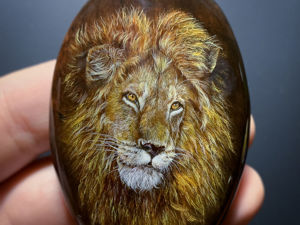 Кабошон  «Огненный Лев». Ярмарка Мастеров - ручная работа, handmade.