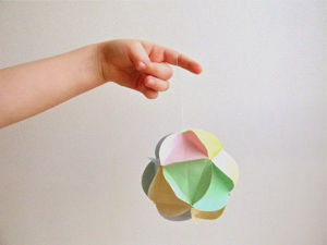 Paper Ball Craft with Kids. Livemaster - handmade