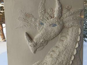 Драконы: объёмные картины в технике барельеф. Ярмарка Мастеров - ручная работа, handmade.