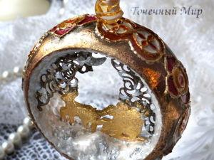 Создаем декор елочной игрушки «Золотая сказка». Ярмарка Мастеров - ручная работа, handmade.