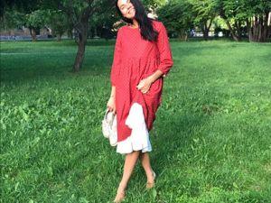 Прекрасное красное платье. Ярмарка Мастеров - ручная работа, handmade.