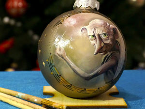 Miniature Painting: Christmas Ball Painted with Oil Paints. Livemaster - handmade