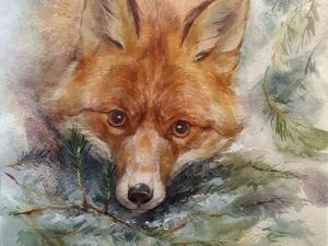How to Paint a Watercolor Fox Portrait. Livemaster - handmade