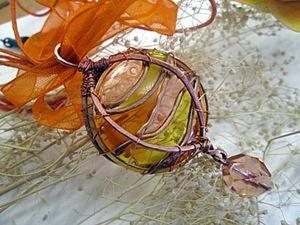 """Делаем кулон """"Течение времени"""" из часового стекла. Ярмарка Мастеров - ручная работа, handmade."""