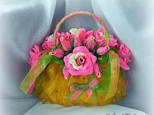 Сладкая сумочка для девочки (букет из конфет). Ярмарка Мастеров - ручная работа, handmade.