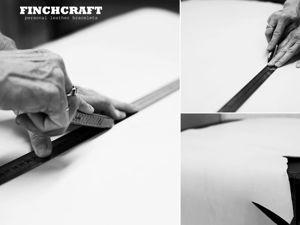 Персональные кожаные браслеты Finch. Ярмарка Мастеров - ручная работа, handmade.