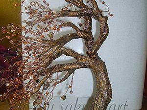 Плетение и оформление Дерево на ветру. Ярмарка Мастеров - ручная работа, handmade.