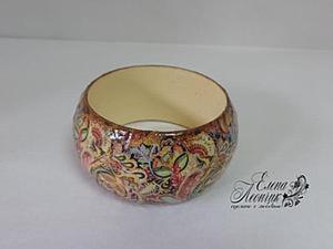 Мастер-класс по изготовлению браслета в технике декупаж с использованием лаковой распечатки. Ярмарка Мастеров - ручная работа, handmade.