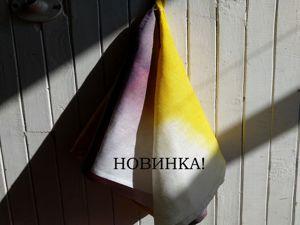 НОВИНКА! Полотенце с эффектом омбре. Ярмарка Мастеров - ручная работа, handmade.