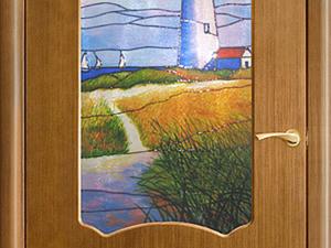 Декорируем дверь в детскую: рисуем витражный маяк. Ярмарка Мастеров - ручная работа, handmade.