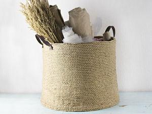 Мастерим корзину в бохо стиле. Ярмарка Мастеров - ручная работа, handmade.