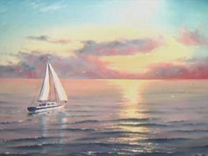 Написание морского пейзажа маслом. Ярмарка Мастеров - ручная работа, handmade.