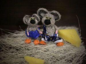 Мышки-братишки на каркасе: видеоурок. Ярмарка Мастеров - ручная работа, handmade.