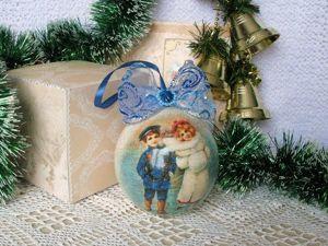 Декорируем деревянный шар в технике декупаж. Ярмарка Мастеров - ручная работа, handmade.