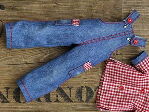 Урок моделирования — как сшить джинсовый комбинезон по выкройке полукомбеза из  «Альбома выкроек №2». Ярмарка Мастеров - ручная работа, handmade.