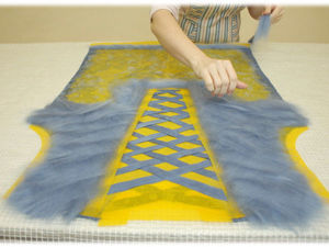Implementing Illusions: Felting a Marvelous Vest Step by Step. Livemaster - handmade