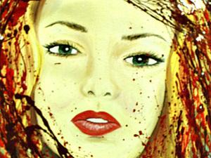 """Портрет """"Кровавая Мэри""""  Мастер-класс. Ярмарка Мастеров - ручная работа, handmade."""