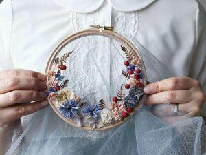 Floral Wreaths in Hoops By Olga Prinku. Livemaster - handmade